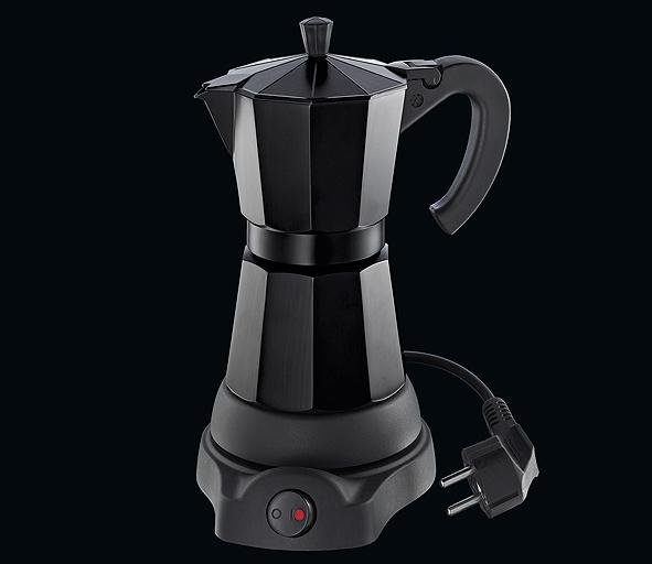 Kávovar elektrický Classico na 6 šálků černý 300 ml - Cilio