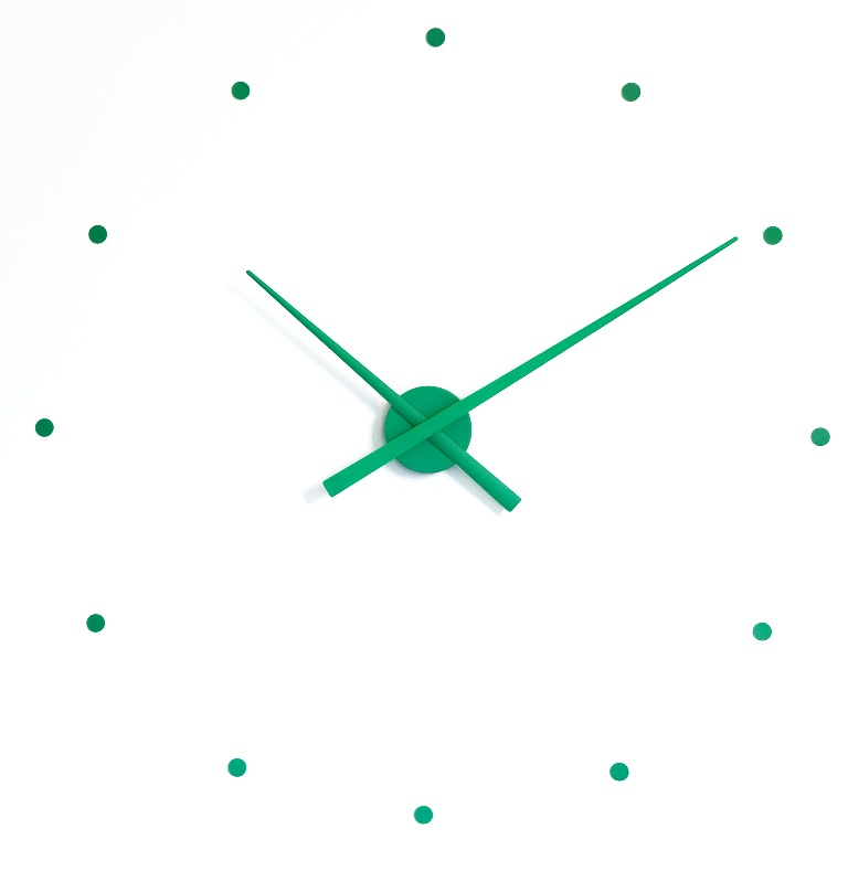 Nástěnné hodiny NOMON OJ zelené 80 cm - NOMON