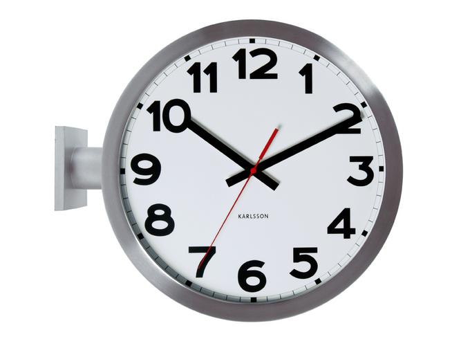 Nástěnné oboustranné hodiny Double Sided numbers 38 cm nerez - Karlsson