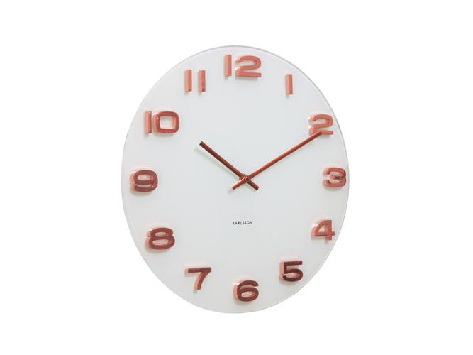 Nástěnné hodiny Vintage copper numbers 35 cm bílé - Karlsson