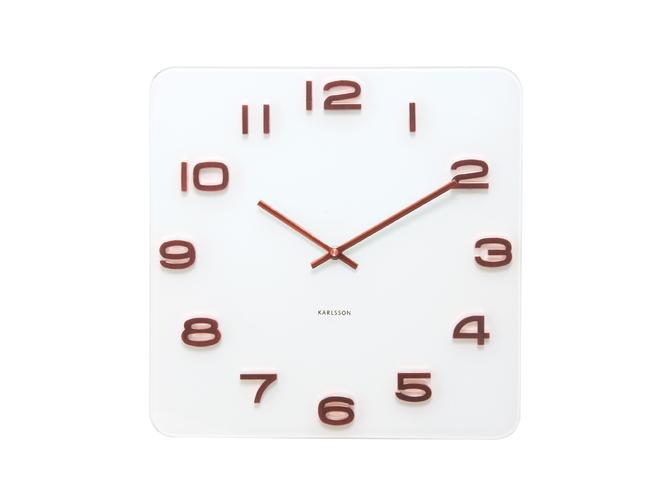 Nástěnné hodiny Vintage copper numbers 35 x 35 cm bílé - Karlsson