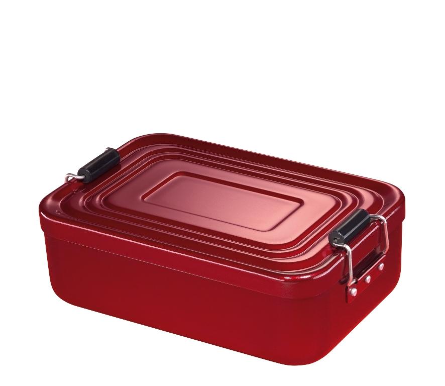 Svačinový box alu červený 5x12x18 cm - Küchenprofi