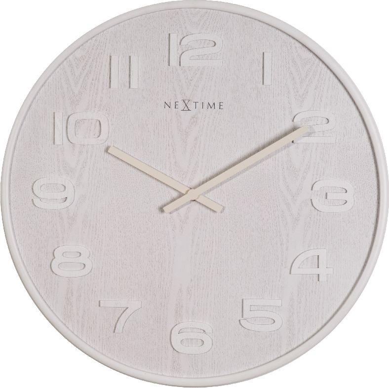 Nástěnné hodiny Wood Wood Big 53 cm bílé - NEXTIME