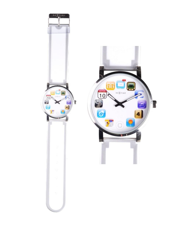 Designové hodinky Wristpad bílé - NEXTIME
