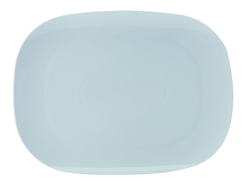 Jídelní talíř White Basics Bisou 37,5 x 28 cm - Maxwell&Williams