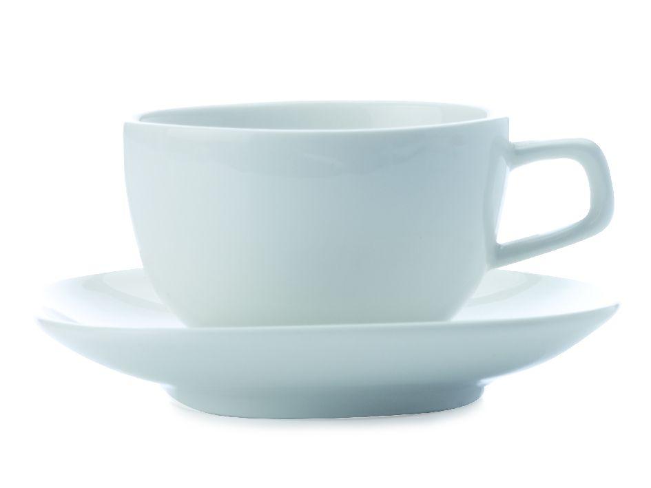 Šálek s podšálkem espresso White Basics Bisou 70 ml - Maxwell&Williams