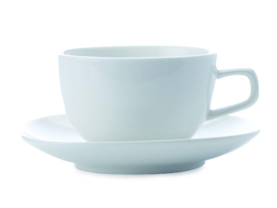 Šálek s podšálkem na kávu White Basics Bisou 180 ml - Maxwell&Williams