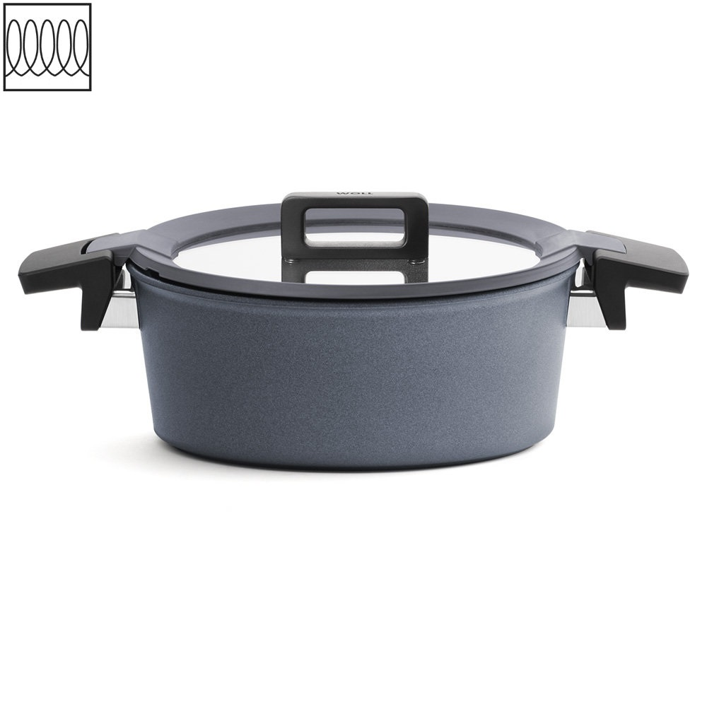 Titanový Kastrol Concept plus Induction s poklicí na indukci 28 cm - WOLL