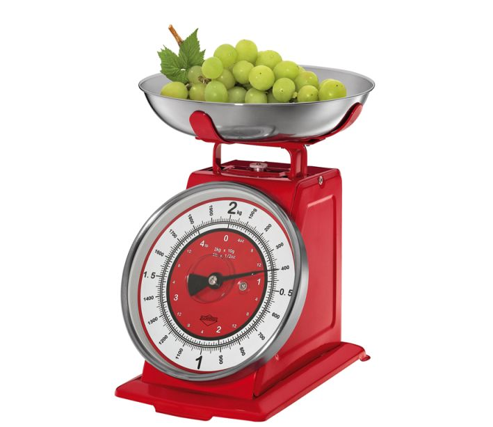 Kuchyňská Retro váha NOSTALGIE červená - Küchenprofi