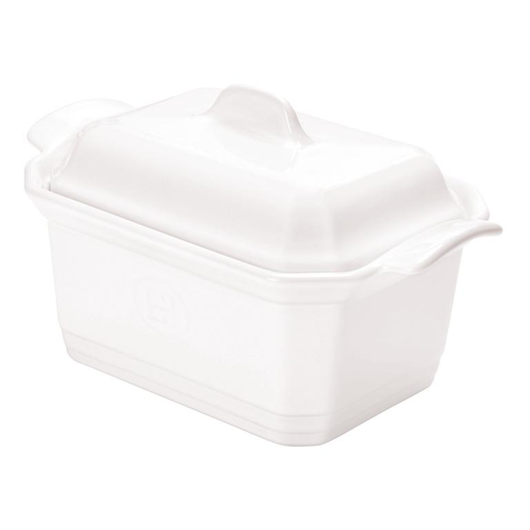Terrina se závažím Flour bílá nugátová 0,6 l - Emile Henry