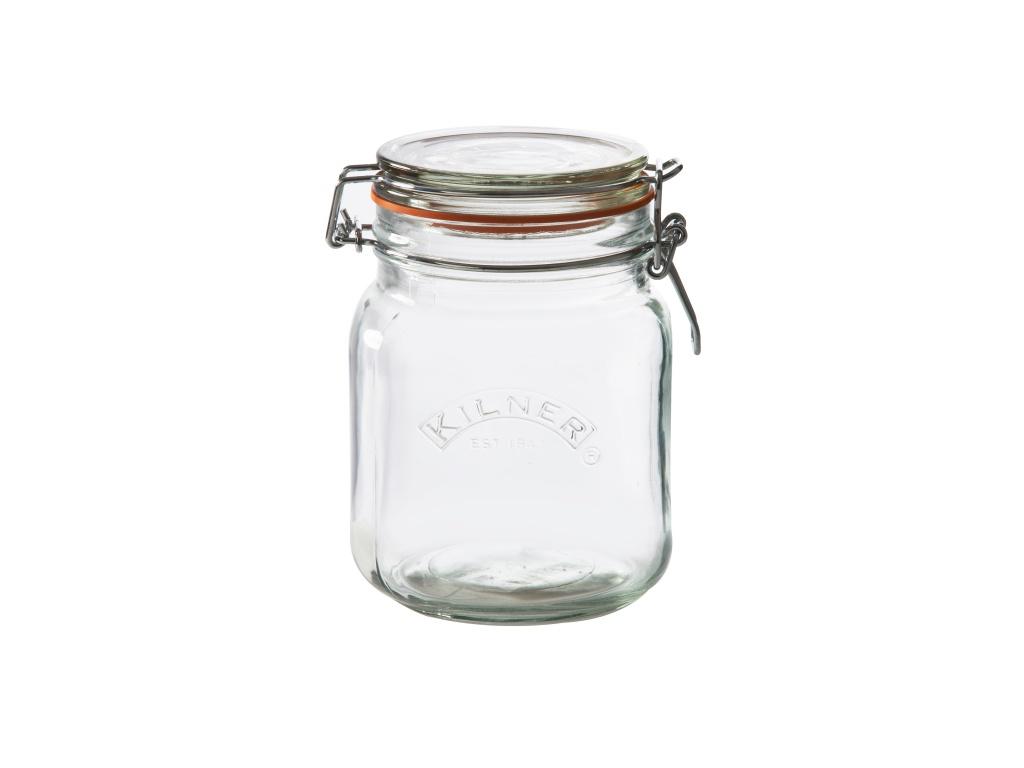 KILNER zavařovací sklenice s klipem 1l hranatá - Kilner