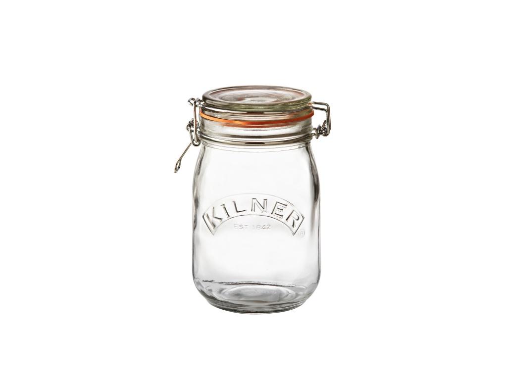 KILNER zavařovací sklenice s klipem 1l kulatá - Kilner