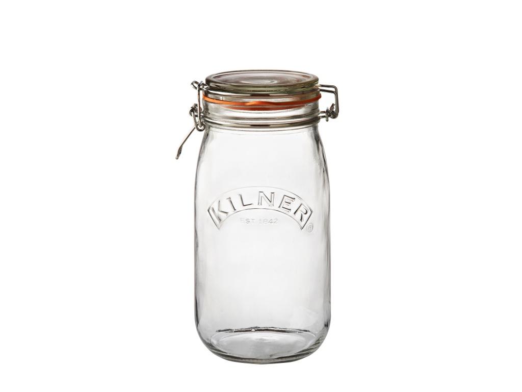 KILNER zavařovací sklenice s klipem 1,5l kulatá - Kilner