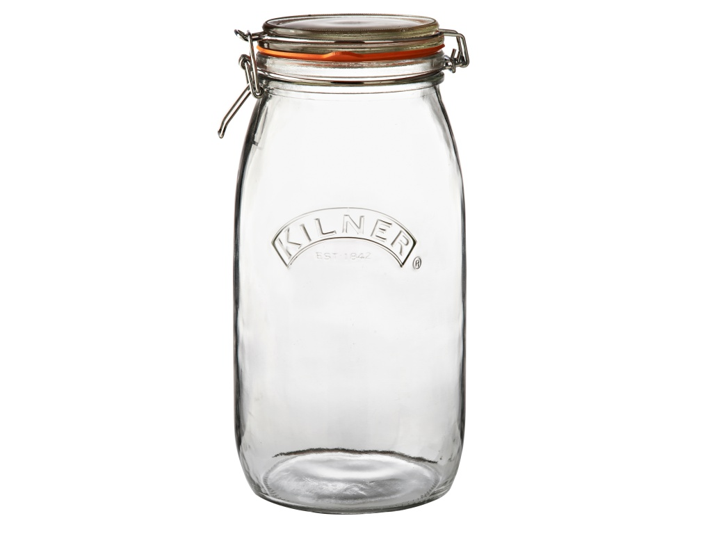 KILNER zavařovací sklenice s klipem 3l kulatá - Kilner