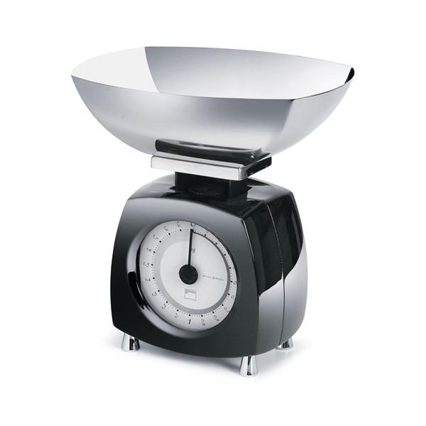 Glossy Designová Kuchyňská váha černá - Carlo Giannini
