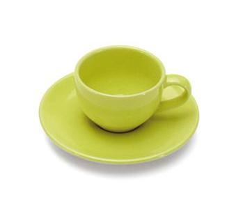 COLOURS Šálek s podšálkem na Espresso 6ks 70 ml Limetkově zelená- Carlo Giannini