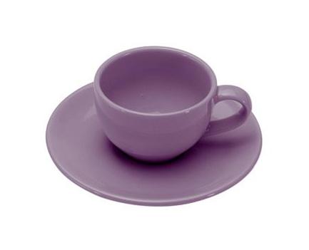 COLOURS Šálek s podšálkem na Espresso 6ks 70 ml fialová - Carlo Giannini