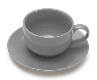 COLOURS Šálek s podšálkem na cappuccino 6ks šedá - Carlo Giannini