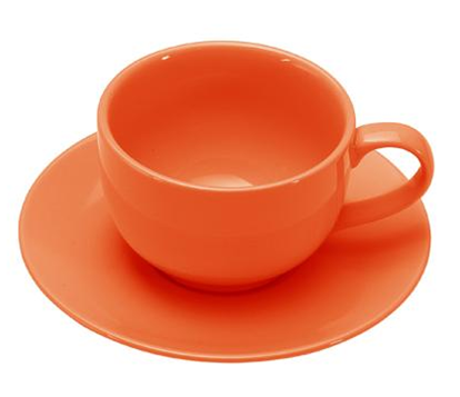 COLOURS Šálek s podšálkem na cappuccino 6ks oranžová - Carlo Giannini