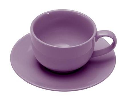 COLOURS Šálek s podšálkem na cappuccino 6ks fialová - Carlo Giannini