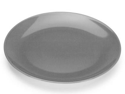 COLOURS Mělký talíř 6ks šedý - Carlo Giannini
