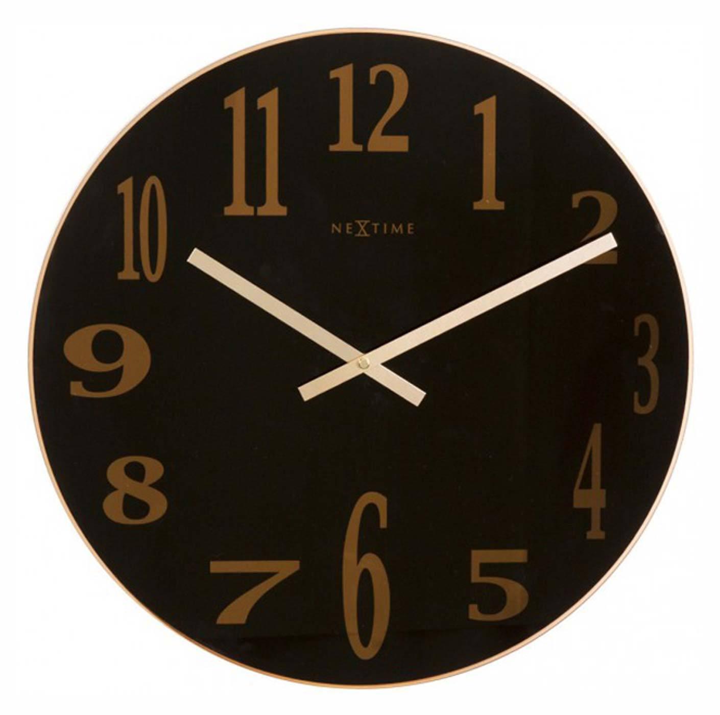 Nástěnné hodiny Smoke Mirror 43 cm černé - NEXTIME