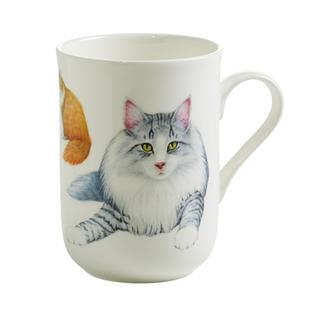 Porcelánový Hrnek Cashmere PETS CAT Norská lesní kočka 300 ml - Maxwell&Williams