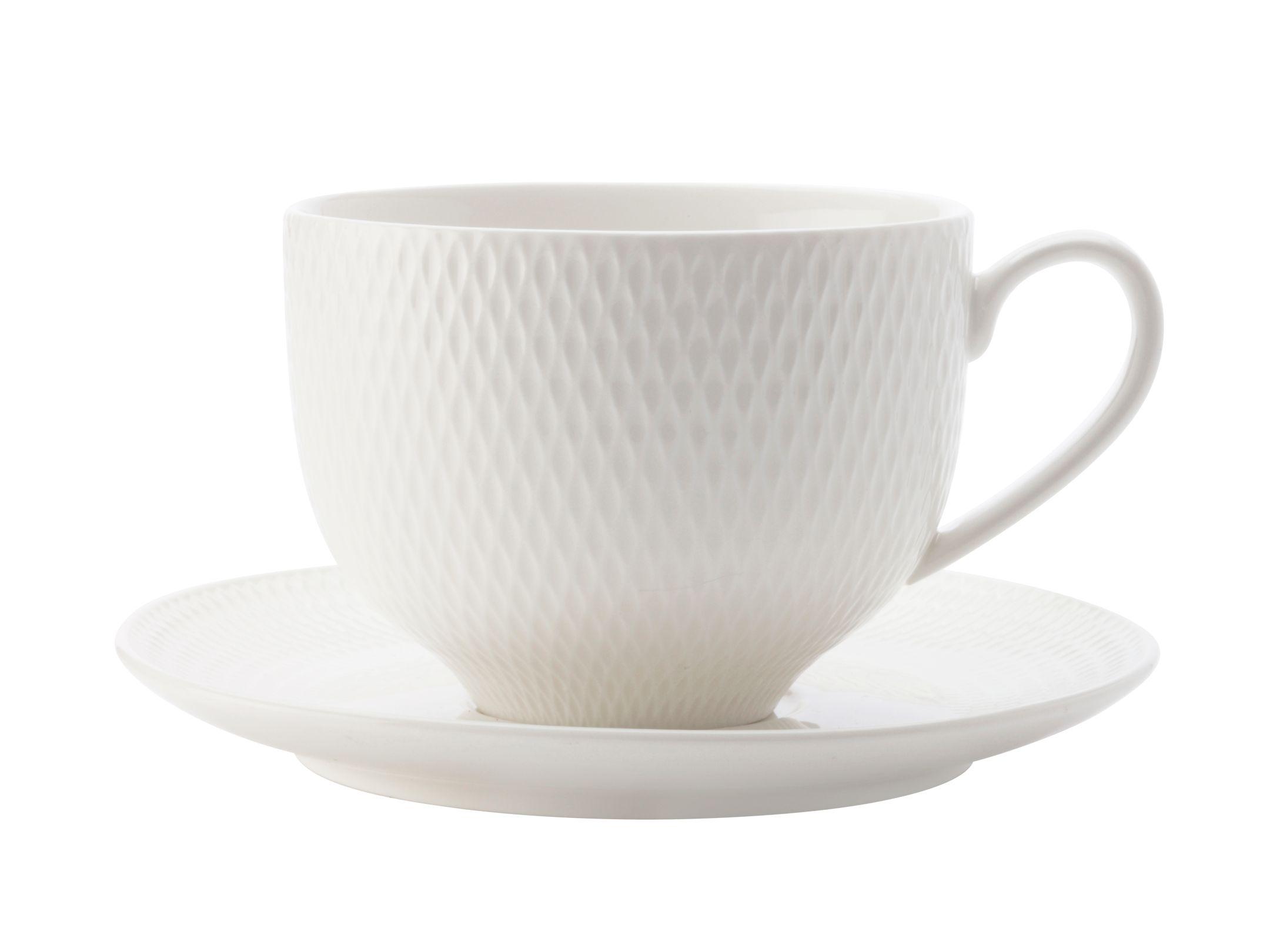 Porcelánový šálek s podšálkem 220 ml DIAMONDS - Maxwell&Williams