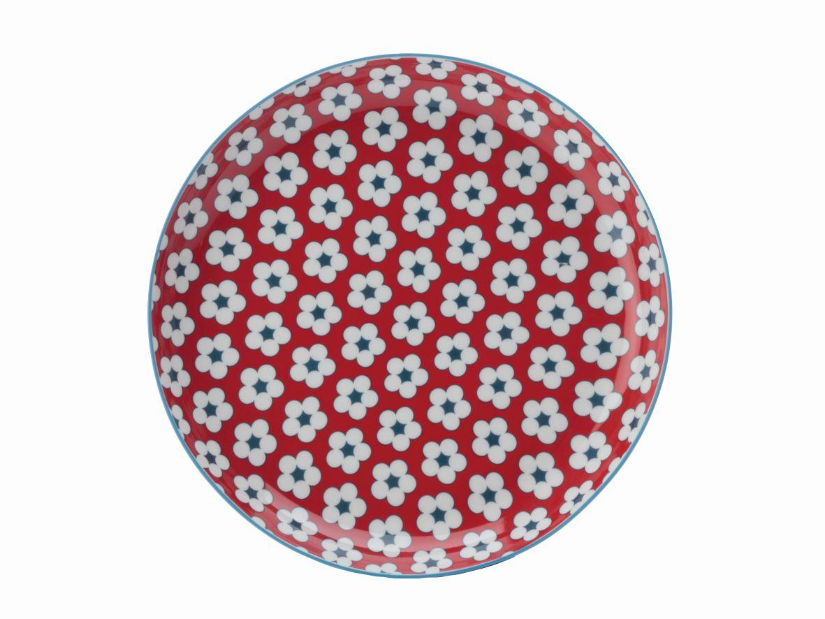 Mělký talíř Cotton Bud 23 cm červený - Maxwell&Williams