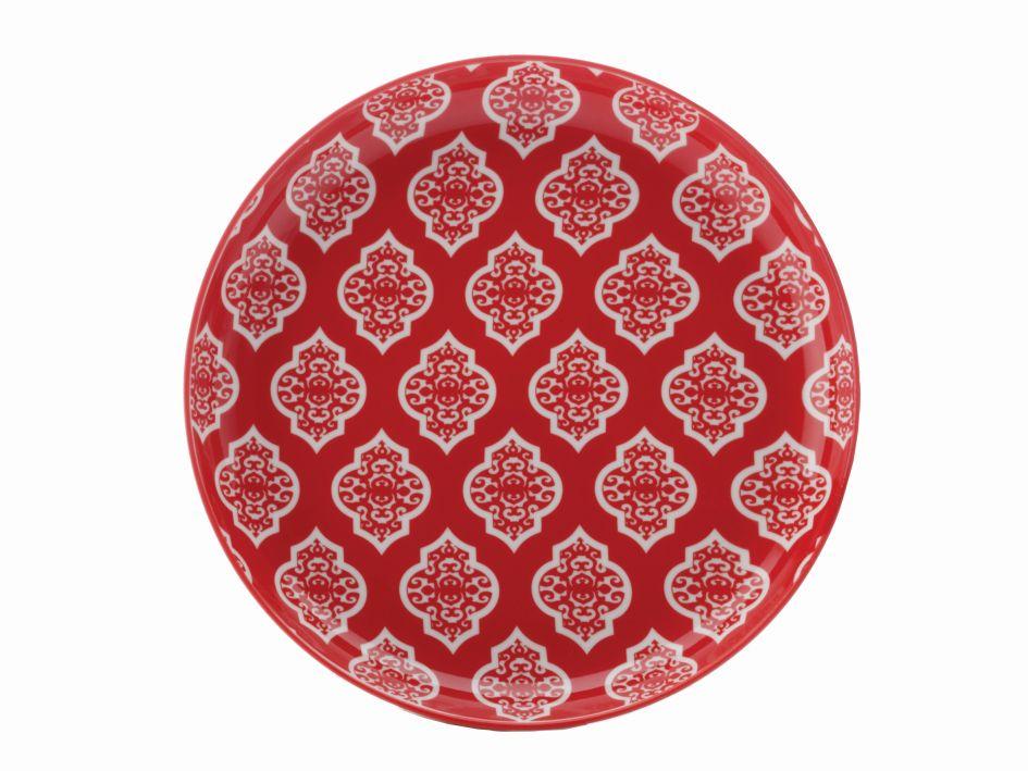 Dezertní talíř Alcazar Red Circ 18,5 cm červený - Maxwell&Williams