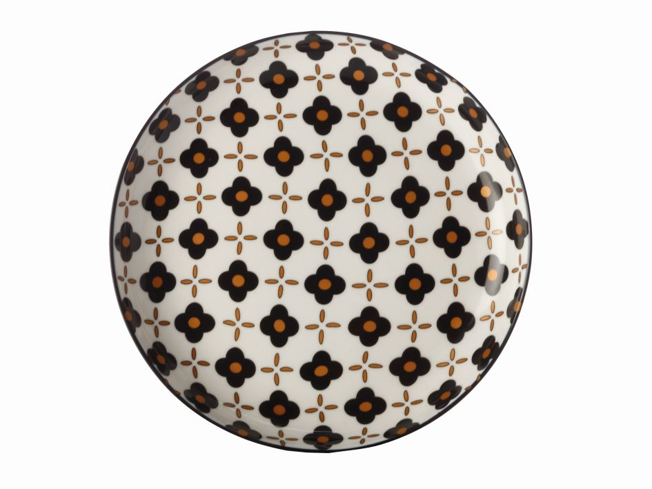Dezertní talíř Marigold Black Flower 18,5 cm - Maxwell&Williams