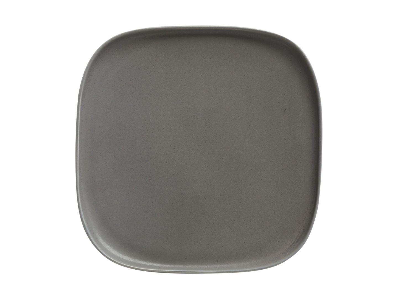 Čtvercový mělký talíř Elemental 20,5 x 20,5 cm Charcoal - Maxwell&Williams