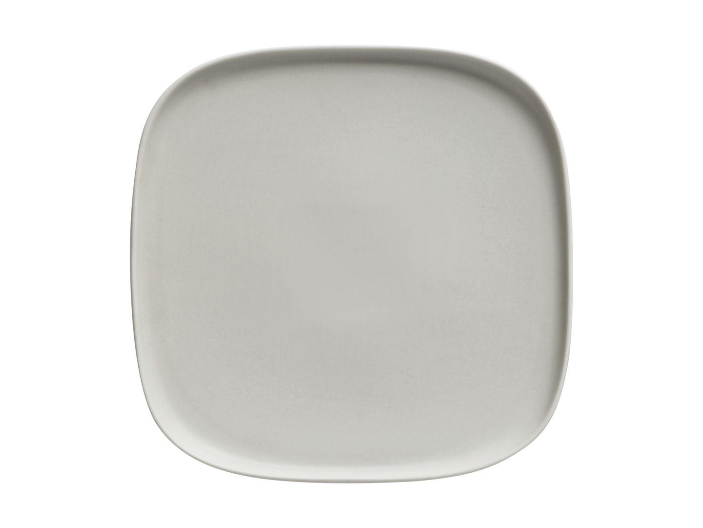 Čtvercový mělký talíř Elemental 23 x 23 cm šedý - Maxwell&Williams