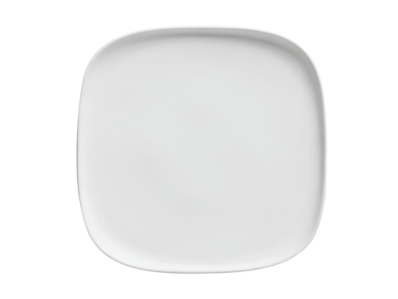 Čtvercový mělký talíř Elemental 25,5 x 25,5 cm bílý - Maxwell&Williams