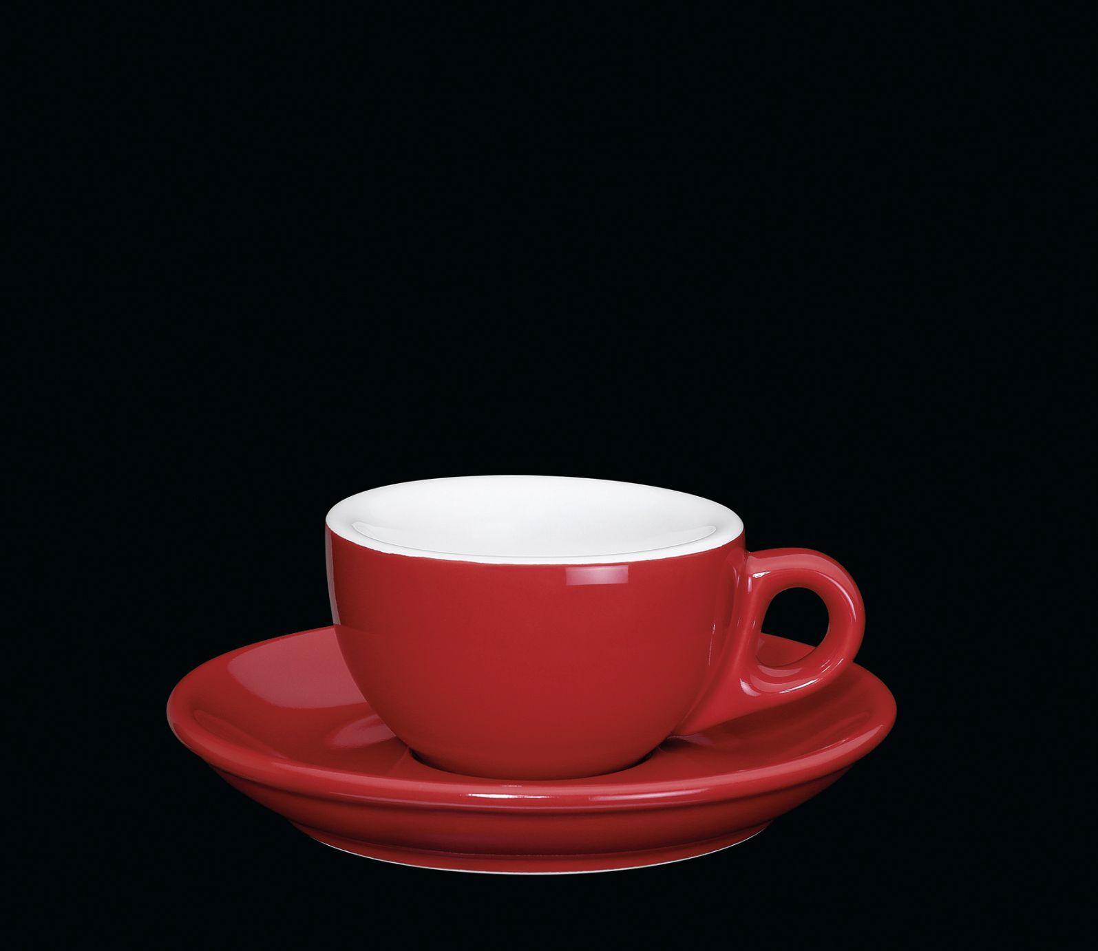 Porcelánový šálek na espresso červený 50 ml - Cilio