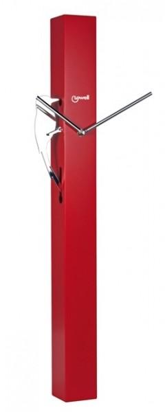 Nástěnné kyvadlové hodiny DATEL červené - LOWELL