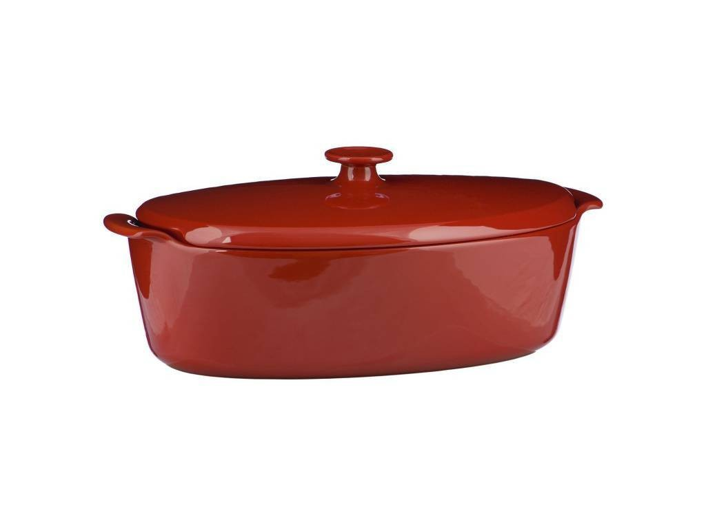 Oválná forma na pečení 5,8l červená - Emile Henry