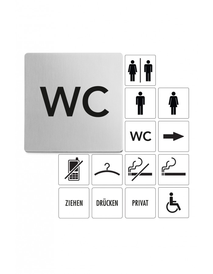 Tabulka s nápisem WC - ZACK