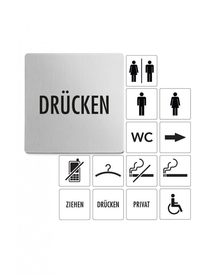 Tabulka s nápisem Drücken - ZACK