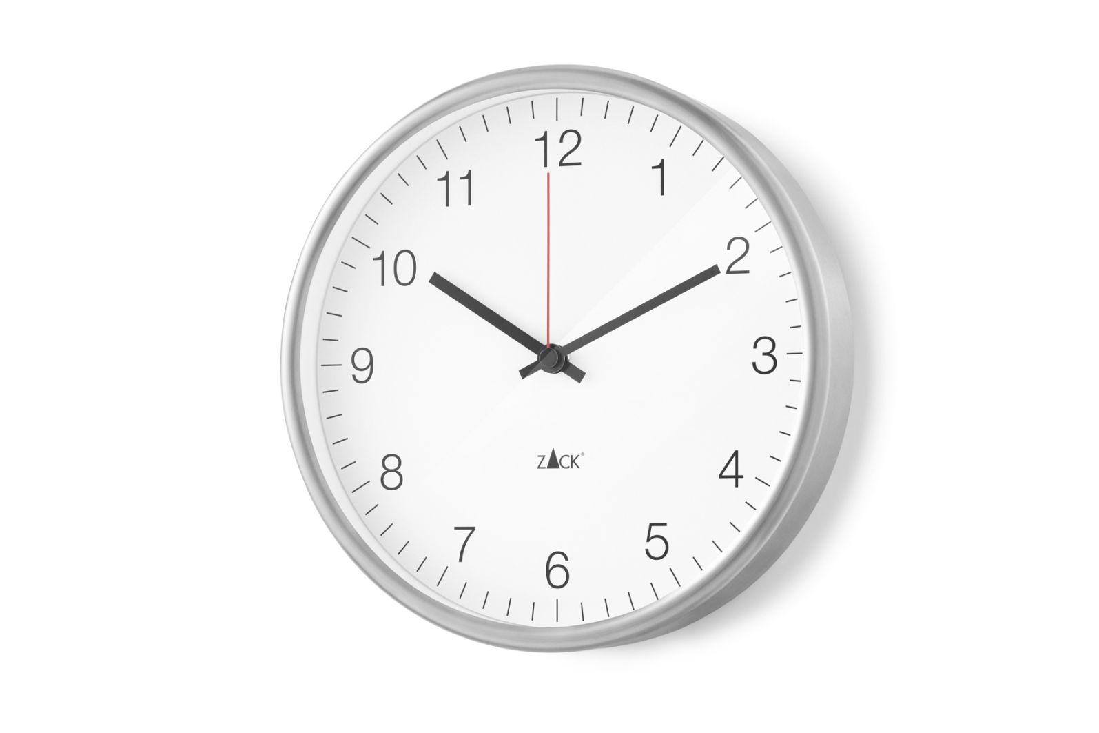 Nástěnné hodiny PALLA, 24 cm bílé - ZACK