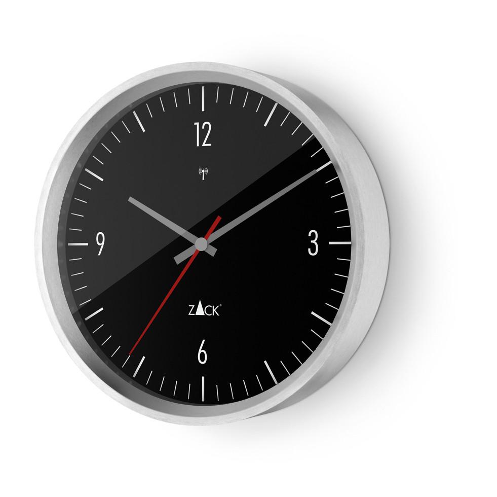 Nástěnné hodiny VIDA, černé 24 cm - ZACK