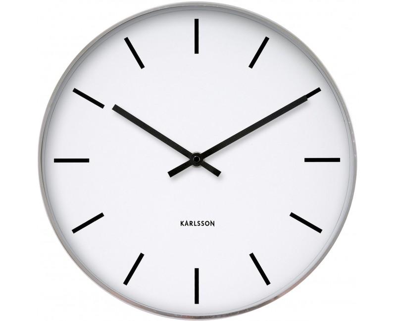 Nástěnné hodiny chrom steel 38 cm - Karlsson