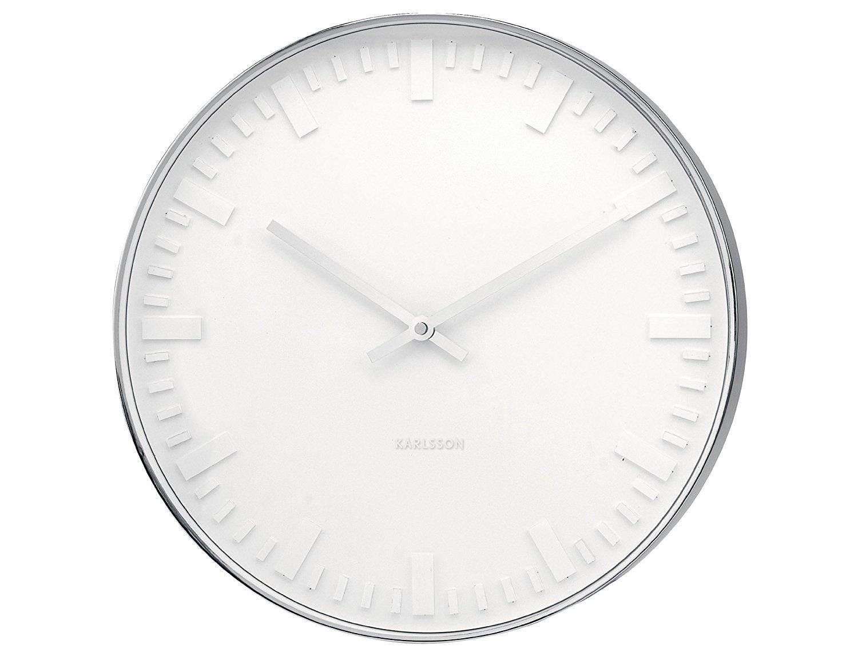 Nástěnné hodiny Mr. White emboss steel 51 cm - Karlsson