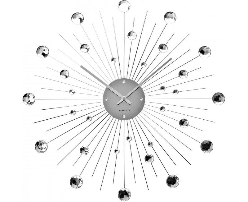 Nástěnné hodiny crystal diamants - Karlsson