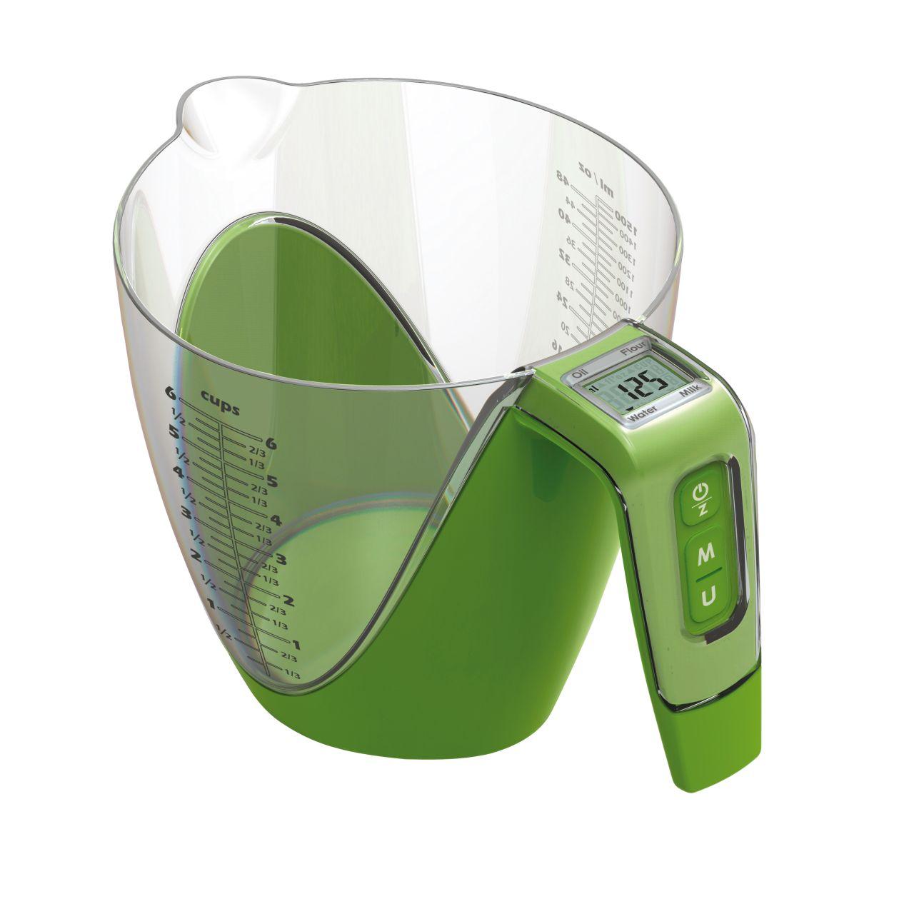 Kuchyňská váha s odměrkou 2in1 zelená - Carlo Giannini