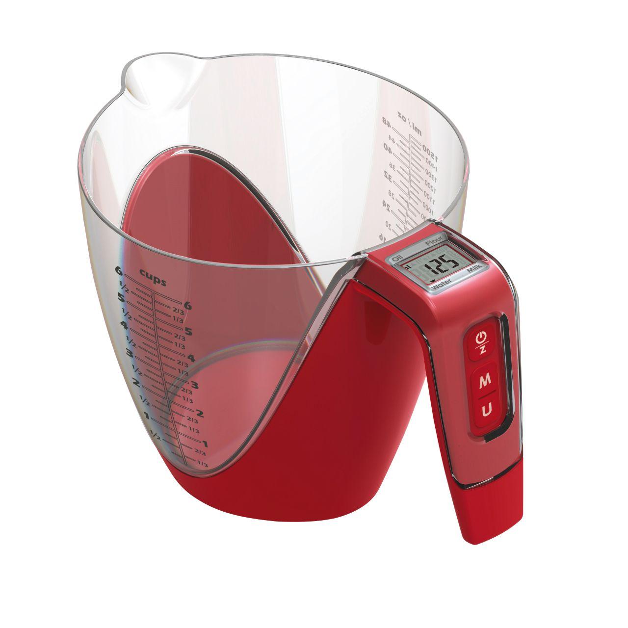 Kuchyňská váha s odměrkou 2in1 červená - Carlo Giannini
