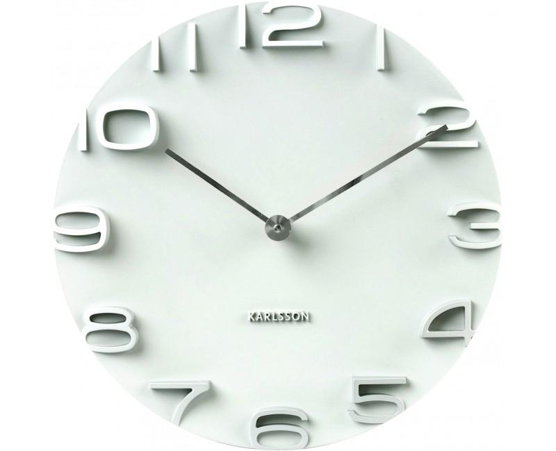 Nástěnné hodiny On The Edge 42 cm bílé - Karlsson