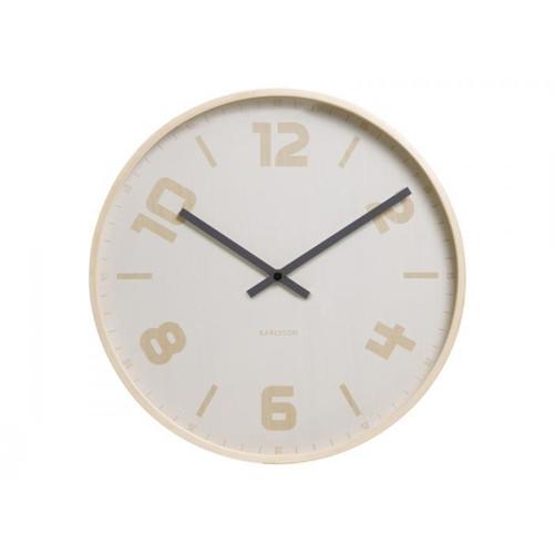 Nástěnné hodiny Brown Numbers 45 cm dřevěné - Karlsson