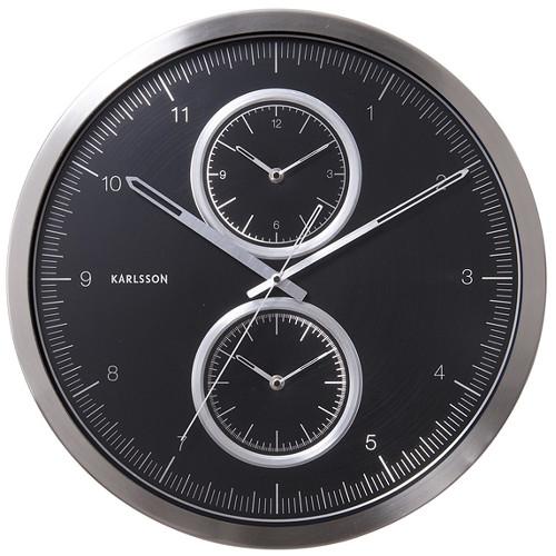 Nástěnné hodiny Black Time 50 cm - Karlsson