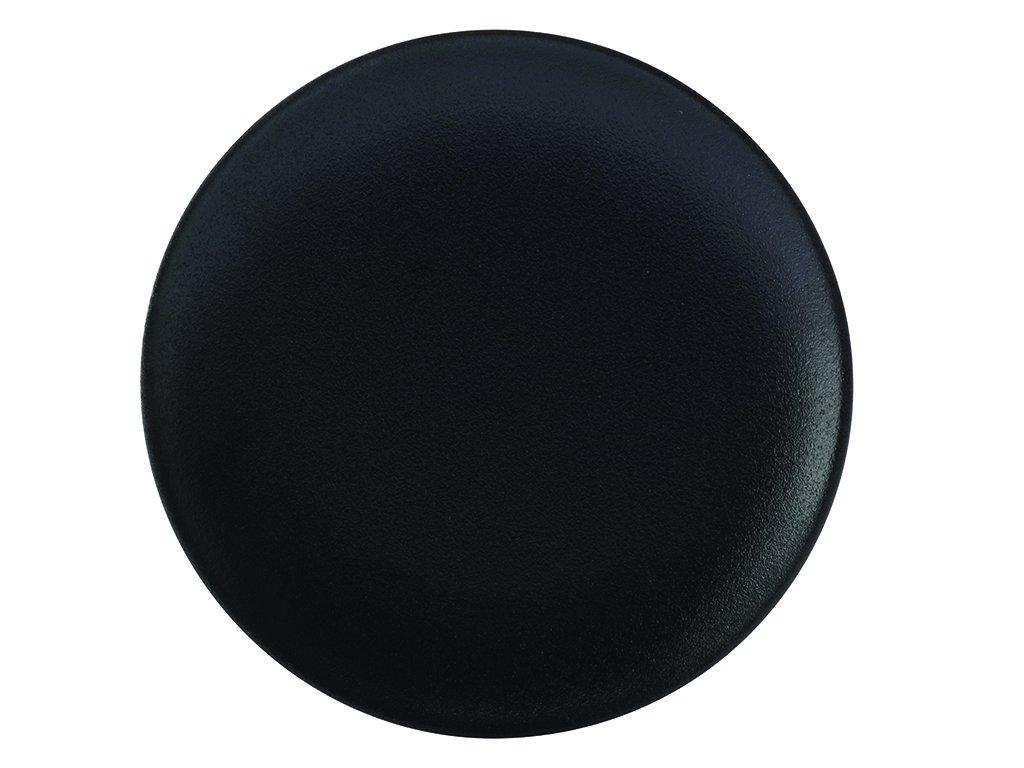 Porcelánový mělký talíř CAVIAR 27,5 cm černý - Maxwell&Williams